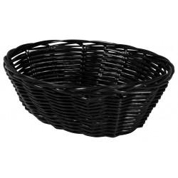 Corbeille polypro ovale noire 23 cm