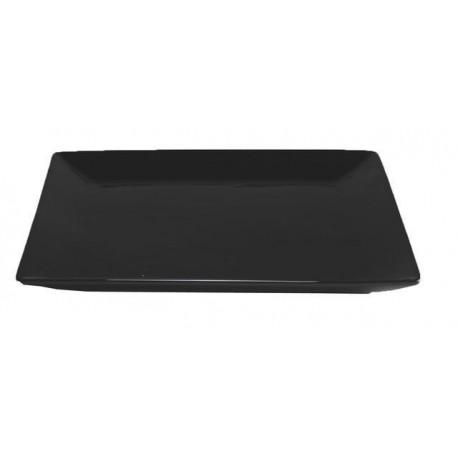 Assiette noire 24x24