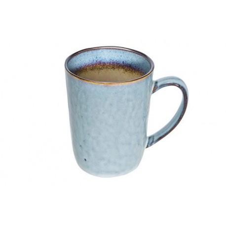 Mug en grÈs bleu 33 cl