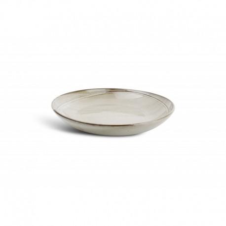 Plat rond gris 30x5 cm