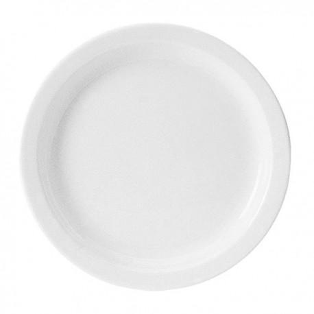 UNISET ASSIETTE PLATE Ø26,5 CM BLANCHE