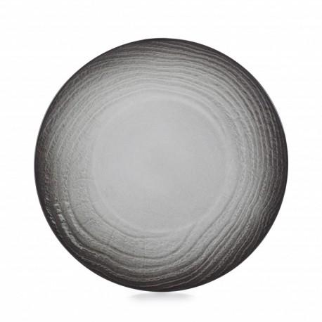 SWELL BLACK ASSIETTE PLATE 21.5CM