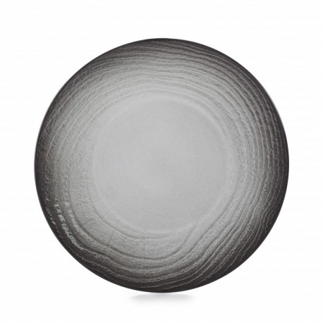 SWELL BLACK ASSIETTE PLATE 28.3CM
