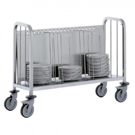 Chariot porte-assiette capacité 400