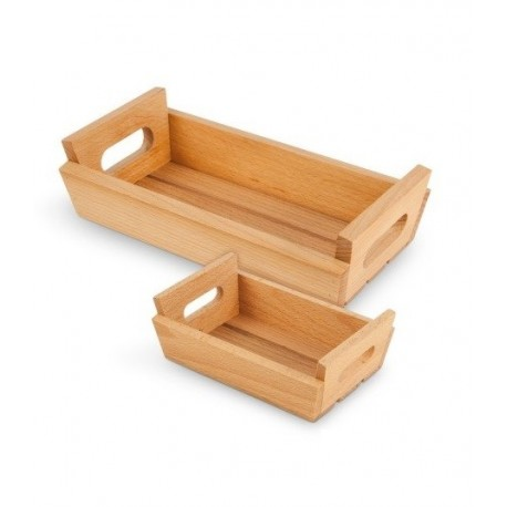 Mini caisse en bois carrée 17x17cm