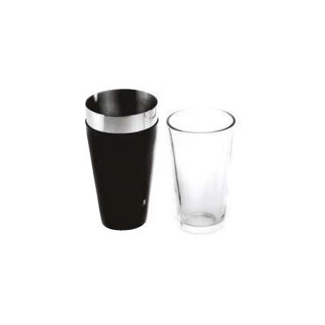 SHAKER BOSTON + VERRE 800ML NOIR