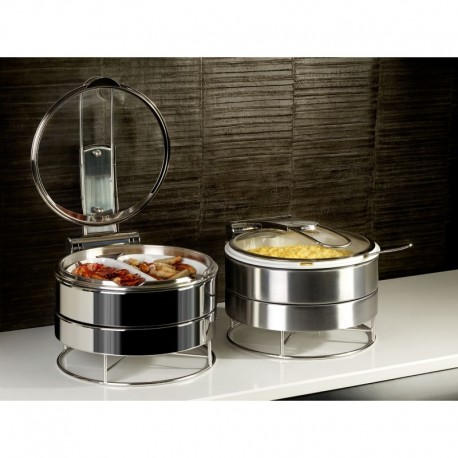 CHAFING DISH BROSSEE AVEC BAC ACIER